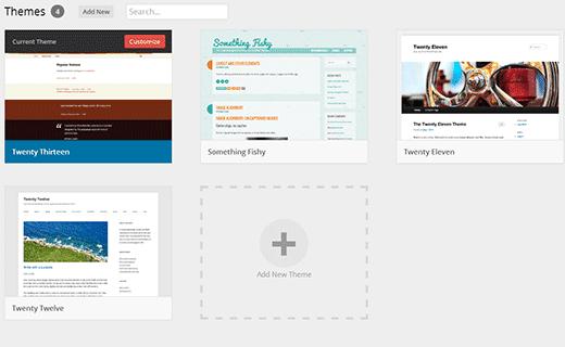 Aperçu des thèmes dans WordPress 3.8